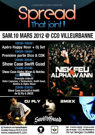 Spread that Joint Concert Villeurbane Skeud Dealers